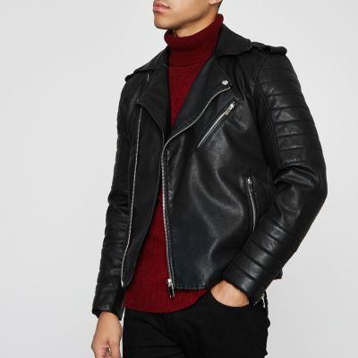 Black Biker Jacket Jackets Coats Amp Jackets Men