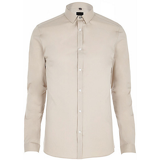 Stone skinny long sleeve shirt