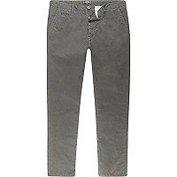 Grey skinny chino trousers