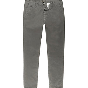 Grey skinny chino pants