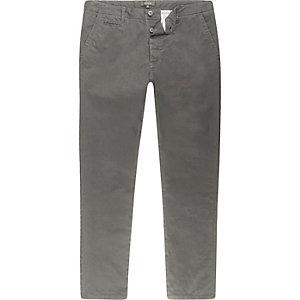 Pantalon chino gris coupe skinny