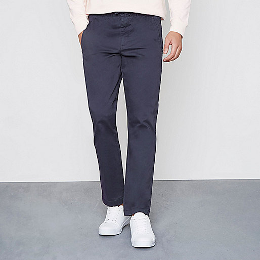 Navy pull on trousers