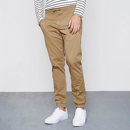 Light brown pull on trousers