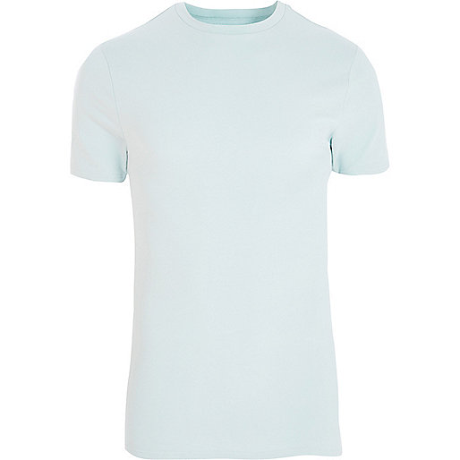 Mint green muscle fit crew neck T-shirt