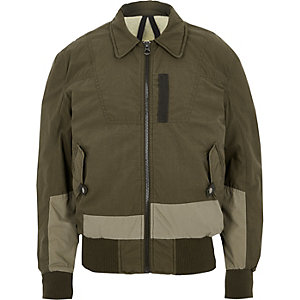 Dark khaki green Design Forum aviator jacket