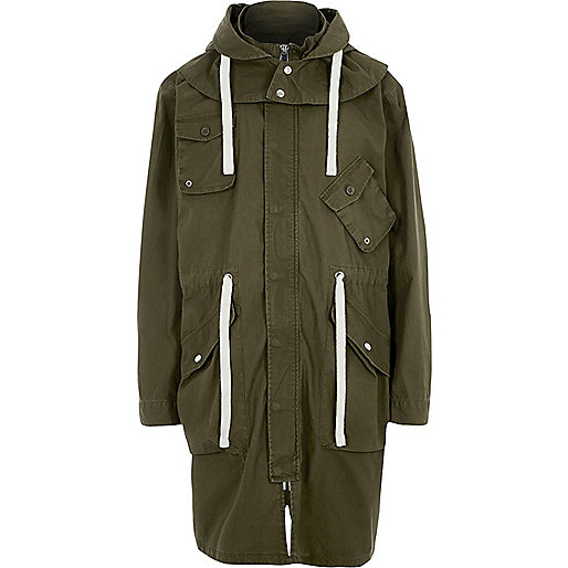 Khaki green Design Forum parka