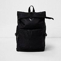 Black roll top backpack
