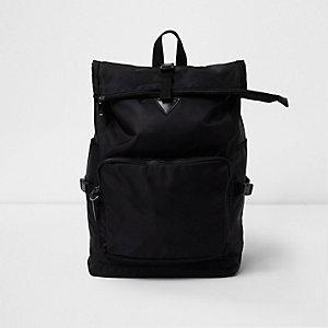 Black roll top backpack