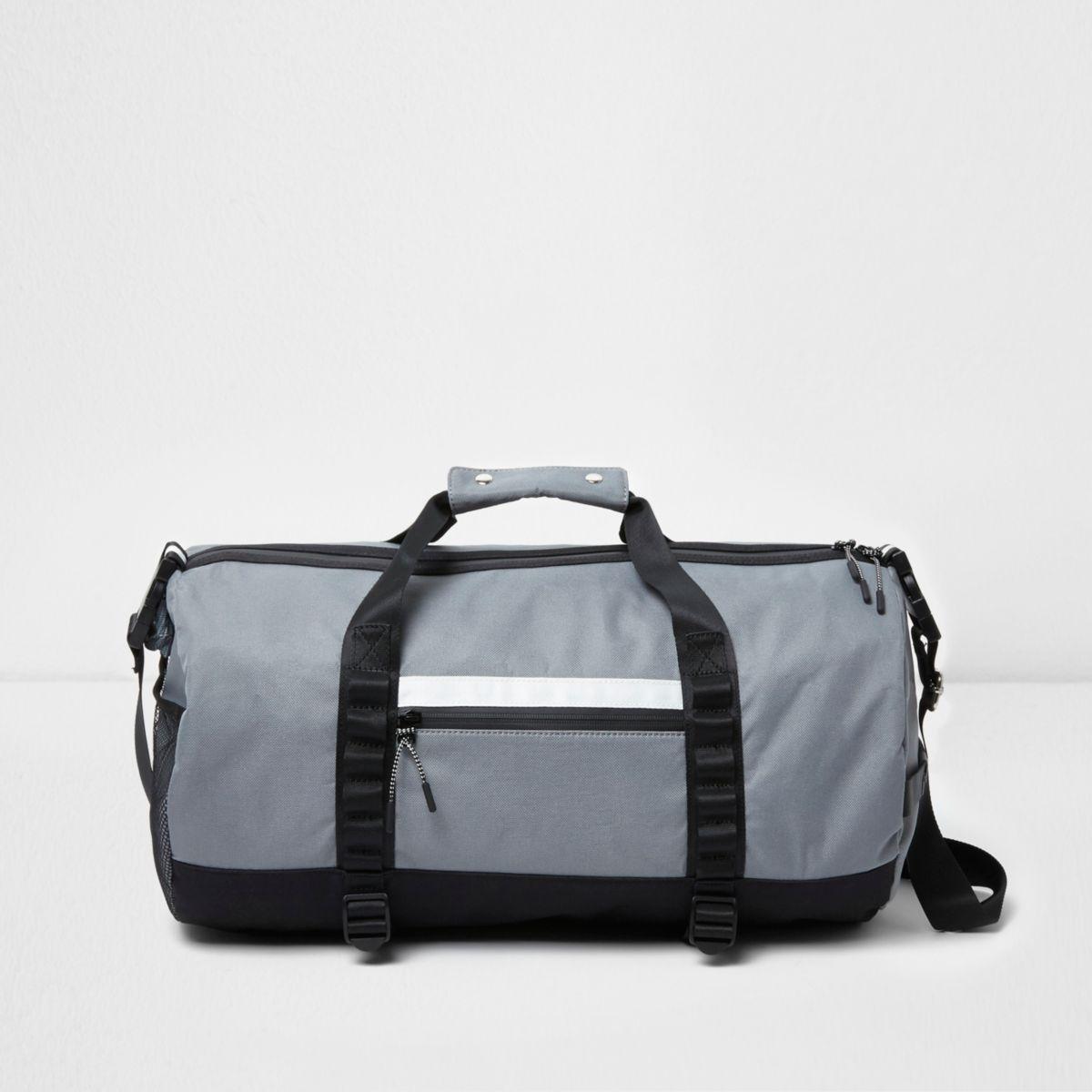 Grey sporty holdall bag