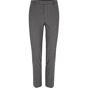 Grijze geruite skinny fit pantalon