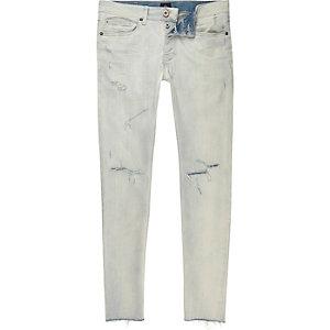 Sid – Jean skinny bleu clair délavé déchiré