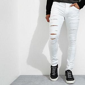 Danny – Jean super skinny blanc déchiré