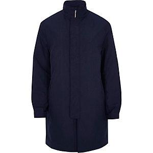 Trench habillé bleu marine zippé