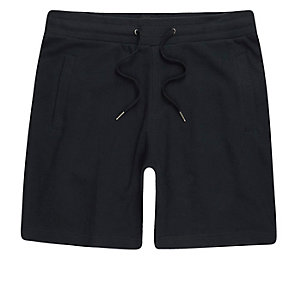 Marineblaue Pikee-Shorts