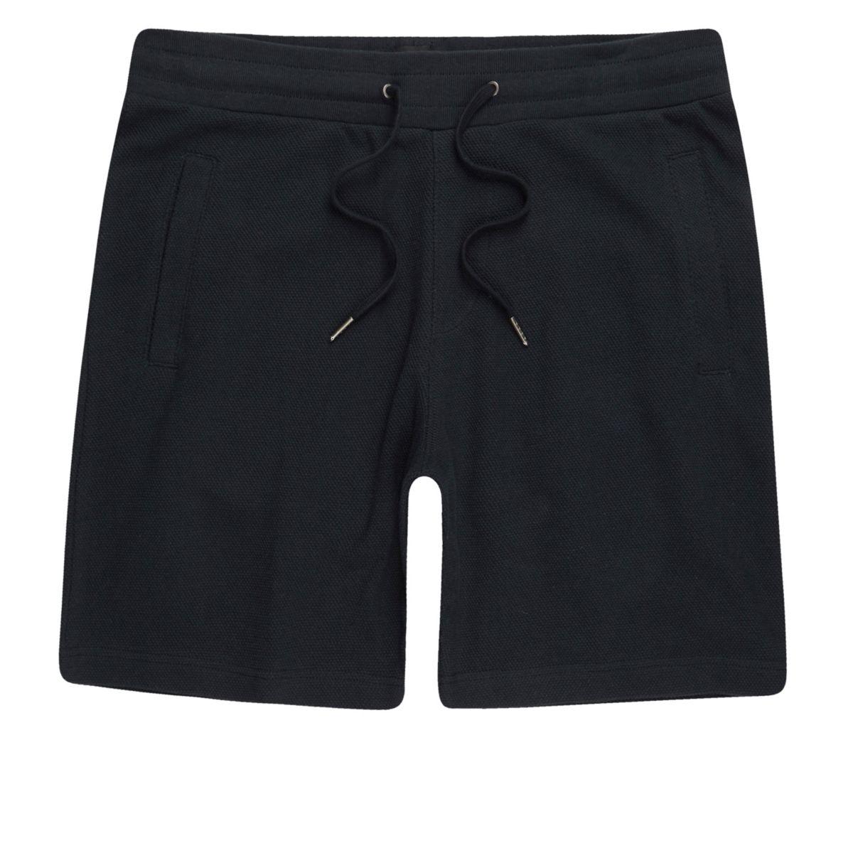 Navy pique shorts
