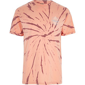 Orange tie dye 'undisclosed' print T-shirt
