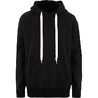 Black Design Forum oversized scuba hoodie