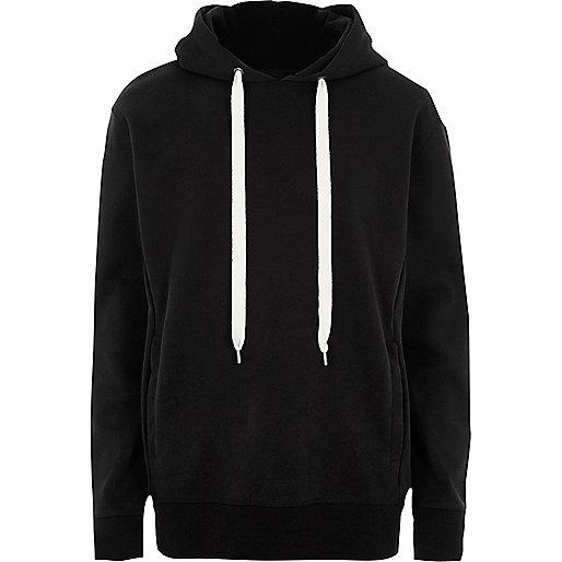 Black Design Forum oversized scuba hoodie