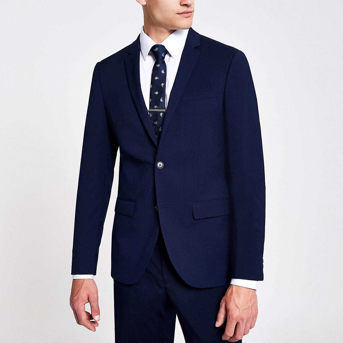 Veste de costume bleu marine cintrée Veste de costume bleu marine cintrée  ... 1cdbce89091