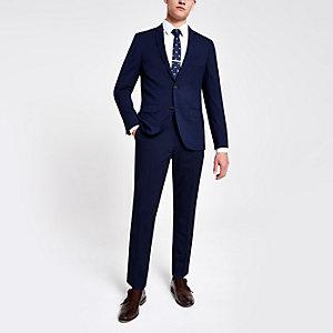 Marineblaue Skinny Fit Anzughose