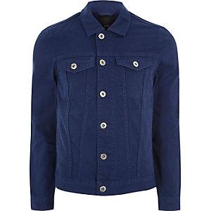 Veste en jean bleu indigo