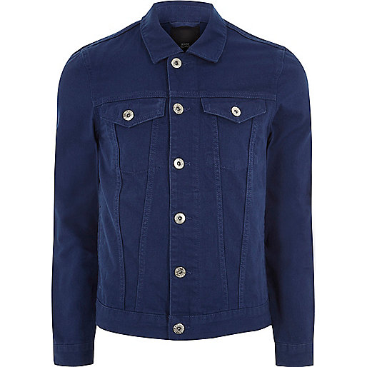 Indigo blue denim jacket