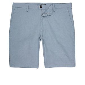 Hellblaue Slim Fit Shorts
