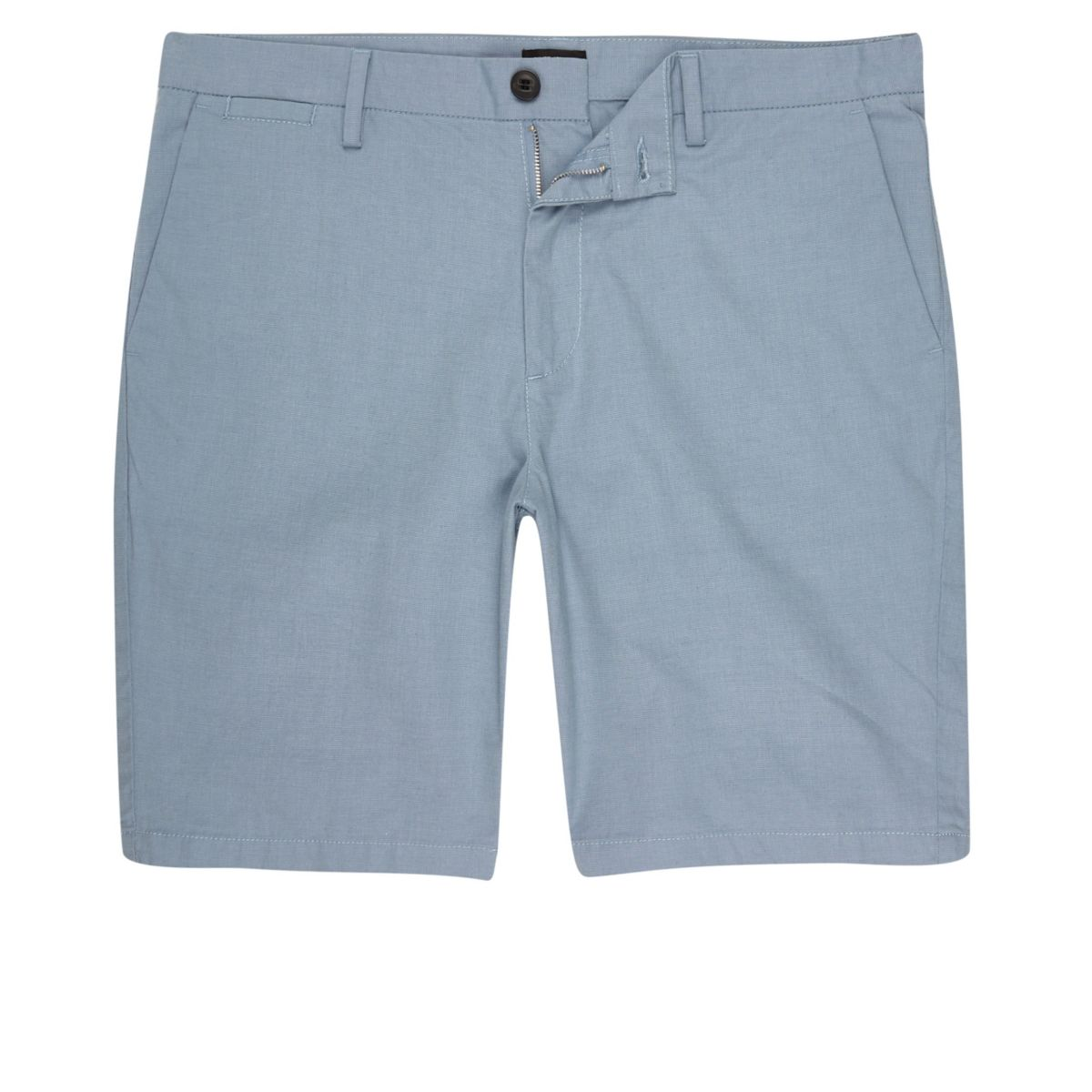 Light blue slim fit shorts