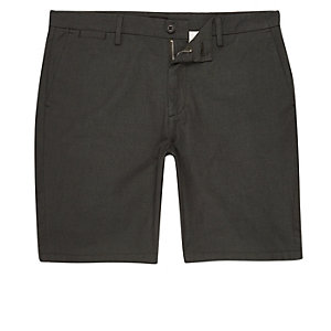 Green slim fit chino shorts