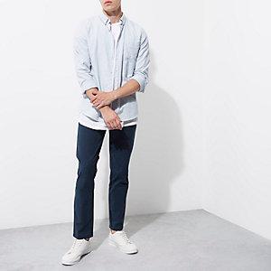 Blue slim fit chino pants