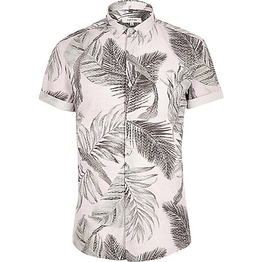 Light orange tropical short sleeve shirt