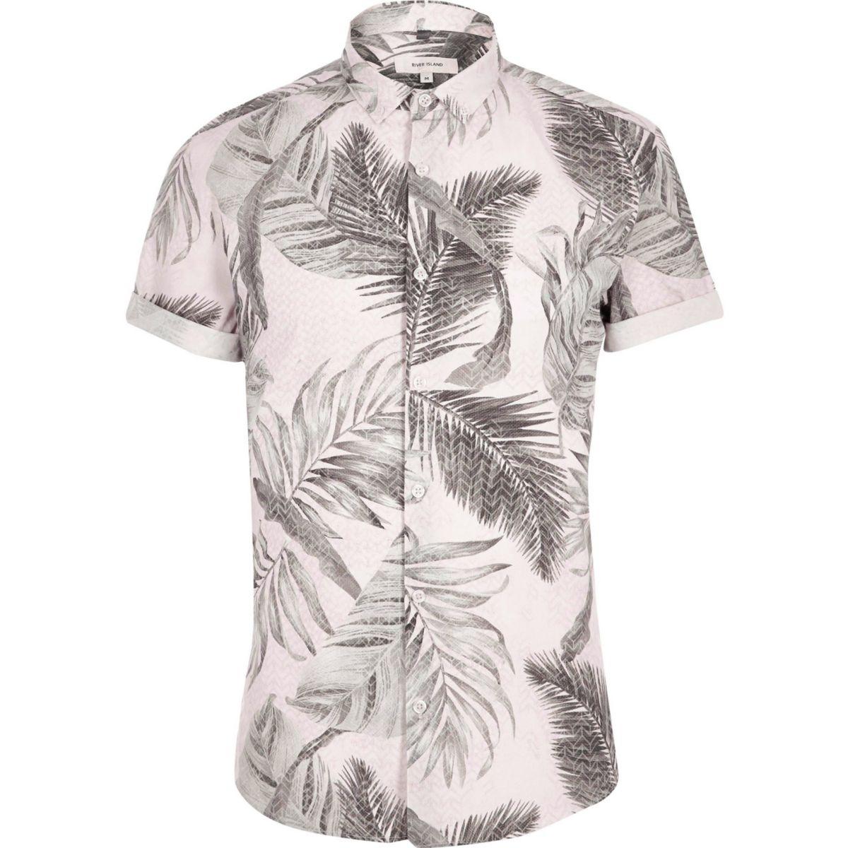 Light orange tropical short sleeve shirt