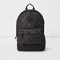 Blue crosshatch front pocket backpack