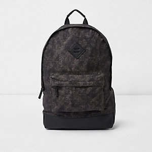 Blue crosshatch front pocket backpack