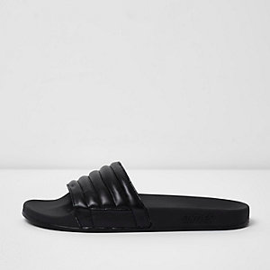 Black Slydes padded sliders