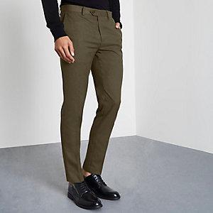 Elegante Skinny Fit Hose in Khaki