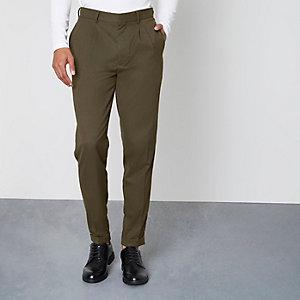 Pantalon skinny fuselé kaki
