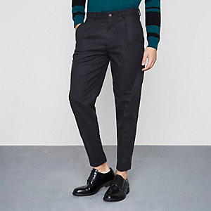 Grey tapered fit smart trousers
