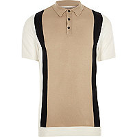 Slim Fit Polohemd in Creme