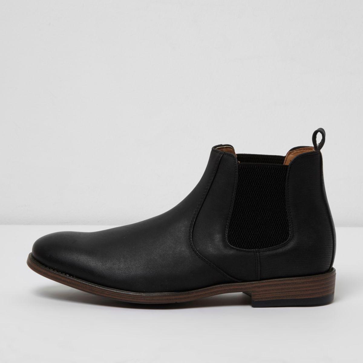 Schwarze Chelsea-Stiefel