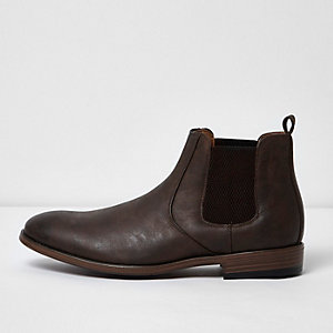 Bottines chelsea marron foncé
