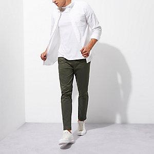 Grüne Slim Fit Chino-Hose