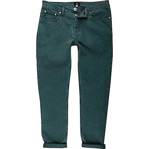 Teal green Jimmy tapered jeans