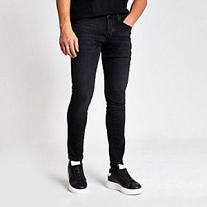 Zwarte washed skinny jeans