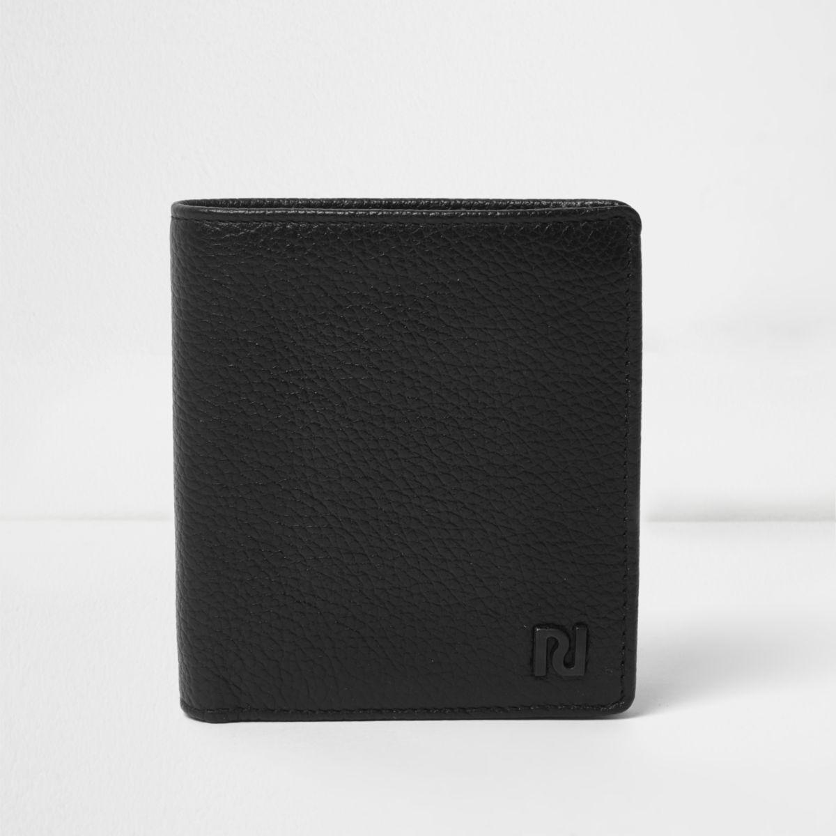 Portefeuille en cuir noir