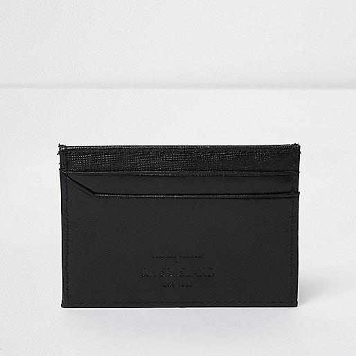 Black leather card holder