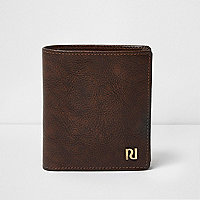 Antique tan leather wallet