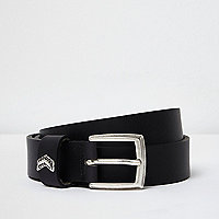 Black leather arrow belt