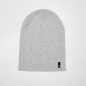 Grey slouchy beanie hat