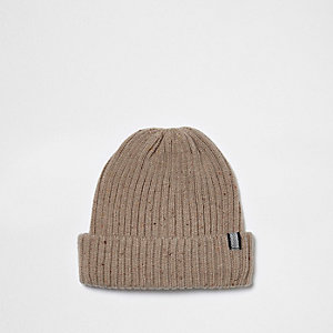 Stone fisherman beanie hat